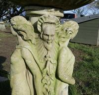 Weathered Cast Bird Bath, the 3 Muses Garden Ornament (6 of 6)