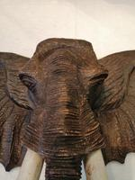 Arts & Crafts Carving of Elephants Head (3 of 5)