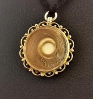 Antique Mourning Locket, Hairwork Pendant, 9ct Gold (10 of 10)