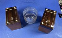 William IV Rosewood Tea Caddy with Mother of Pearl & Pewter Inlay (3 of 8)