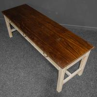 Country Style Three Drawer Dining Table (10 of 10)