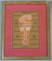 Rare Set of 4 Antique Indian Paintings Palmistry & Solestry (5 of 8)