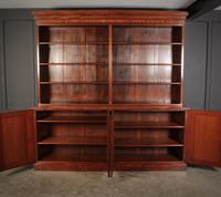 Large Mahogany Open Library Bookcase (8 of 11)