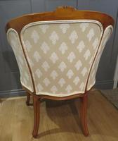 Louis XVI Style Tub Backed Armchair Newly Upholstery (5 of 9)
