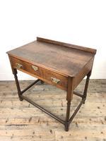 Antique 19th Century Oak Lowboy Side Table (6 of 11)