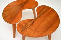 Pair of Vintage Walnut Kidney  Side  Tables (6 of 9)