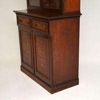 Antique Victorian Inlaid Mahogany 2 Section Bookcase (11 of 11)