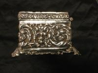 Edwardian Irish Silver Plated Trinket or Jewellery Box (5 of 12)