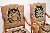 Pair of Antique Carolean Style Needlepoint Armchairs (12 of 12)