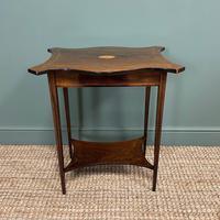 Elegant Inlaid Rosewood Antique Occasional Table (4 of 5)