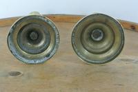 Pair of 18th Century English Gregorian Brass Candlesticks 1790-1810  Push up Ejector (3 of 8)