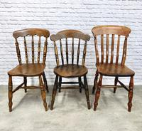 Interesting Assortment of 6 Windsor Kitchen Chairs (5 of 8)