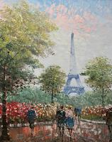 Lovely Pair of Original 20th Century French Parisian Gouache Cityscape Paintings (12 of 19)