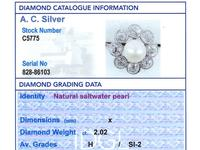 Natural Saltwater Pearl and 2.02ct Diamond, Platinum Dress Ring - Antique French Circa 1915 (9 of 12)