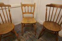 Collection of 3 Stripped Beech & Elm Country Windsor Chairs (8 of 12)