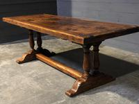 Wonderful French Chestnut Farmhouse Refectory Dining Table (33 of 37)