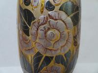 D'argyl Art Deco Glass Vase c.1930 - France (5 of 6)