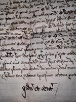 1440 A.D Medieval James ll of Scotland Period Vellum Document (9 of 13)