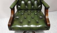 Good Green Leather Desk Chair (4 of 9)
