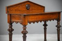 Antique Victorian Oak Hall Table (11 of 11)