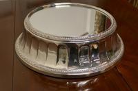 Large Vintage Mirror Top Elkington Silver Plate Wedding Cake Stand (5 of 8)