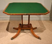 George III Satinwood, Rosewood & Ebony Inlaid Card Table (5 of 10)