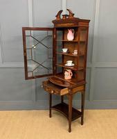 Edwardian Slender Inlaid Mahogany Display Cabinet (21 of 21)