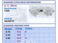 1.81ct Diamond & 18ct Yellow Gold Cluster Earrings - Antique c.1920 (8 of 9)