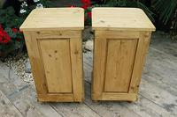 Exceptional Quality Pair of Old Stripped Pine Bedside Cabinets (9 of 9)