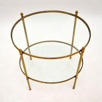 Vintage French Brass & Glass Side Table (5 of 10)