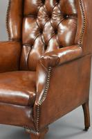 Stunning 19th Century Leather Wing Chair (4 of 6)