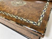 Antique Amboyna Mother of Pearl Inlaid Writing Slope Lap Box (18 of 19)