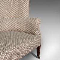 Antique Wing Sofa, English, Settee, Quality, High Back, Mahogany, Edwardian (10 of 12)