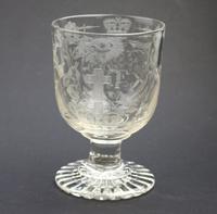 Exceptional, Fine & Rare Regency Oddfellows / Masonic Glass Rummer c.1814 (6 of 11)