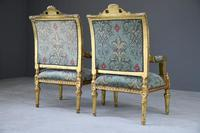 Pair of Gold French Louis XVI Style Armchairs (12 of 12)