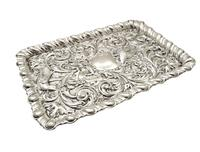 Antique Edwardian Sterling Silver 'Birds' Dressing Tray 1906 (4 of 10)