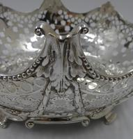 Pair of Antique Victorian Silver Baskets - London 1882 (4 of 8)