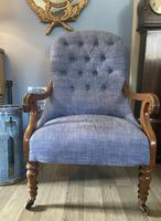 19th Century Buttoned Show Wood Chair (8 of 8)