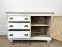 Distressed Antique Pine Cupboard with Painted Base (6 of 10)