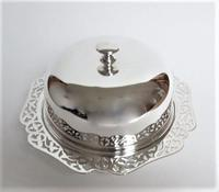 An attractive silver plated three part muffin dish (3 of 7)