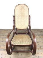 Bentwood Rocking Chair with Cane Seat (9 of 10)