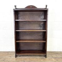 Early 20th Century Antique Oak Bookcase with Four Shelves (2 of 10)
