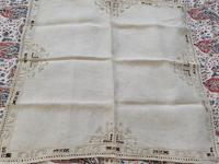 2 Small Pieces of Antique European Linen, Italian Figural Reticella + 2nd in Madeira work. (5 of 7)