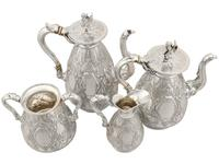 Sterling Silver Four Piece Tea and Coffee Service - Antique George V (1911) (21 of 21)