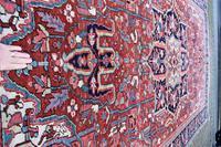 Antique Heriz Carpet 366x228cm (9 of 10)