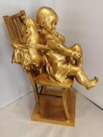 Fine Quality Gilt Bronze Figure of a Seated Child (6 of 7)