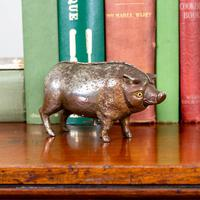 Rare Clockwork Butchers Shop Counter Pig with Bell (3 of 11)
