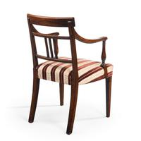 Attractive Pair of Late George III Period Elbow Chairs (3 of 4)