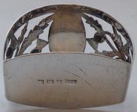Pair of Walker & Hall Scottish Thistle 1927 Silver Napkin Rings Serviette Ring (5 of 9)