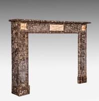 Late 19th Century Grey Marble Fireplace (2 of 6)